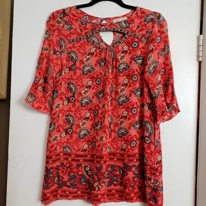 Zoe & Rose short sleeve floral top XL